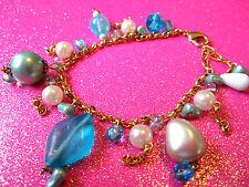 Blue Beaded Bracelet 7-8 Inches
