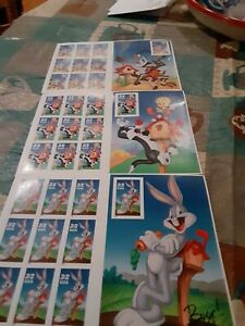 Bugs Bunny stamps tweety, Road Runner stamps new