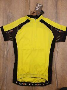 Funkier Force Kids Short Sleeve Jersey Yellow/Black Size 14  SALE   RRP £29.99.
