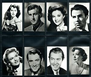 RARE WOMAN`S OWN FILM STARS 1955 SET OF 8 CARDS IN SUPERB CONDITION