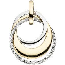 NEU Diamanten Anhänger bicolor 585er echt Gold Gelbgold Brillant 0,21 ct. 14 KT