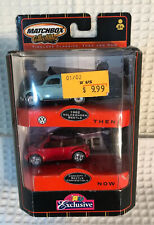 MATCHBOX THEN AND NOW 1962 VOLKSWAGEN BEETLE & CONCEPT 1 CONVERTIBLE SET LIMITED