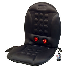Heated Back Shiatsu Massage Chair Cushion Massager Car Seat Home Pain Lumbar