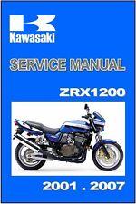KAWASAKI Workshop Manual ZRX1200 ZRX1200R ZRX1200S 2001 2002 2003 2004 2005 2006
