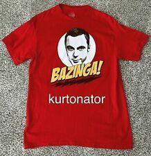 Ripple Junction Sheldon BAZINGA Red T-Shirt Large PREOWNED 100% Cotton