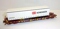 """Fleischmann N 931891-4 Taschenwagen T3 SCHENKER """"Bauart Sdgms 33"""" der AAE - NEU"""