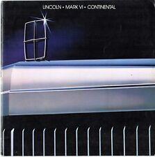 Lincoln Town Car Continental Mark VI 1983 USA Market Sales Brochure