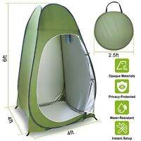 Outdoor Pop Up Privacy Tent Shower Toilet Tent Sun Shelter Camp w/ Carry Bag USA