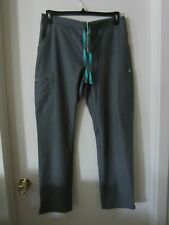 Figs Technical Collection Yola Skinny Pants Gray Size Medium M Pockets Scrubs