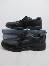 """Deer Stags """"Verge"""" Black Leather Lace Up Sneakers Sz 12 M EUC!!!"""