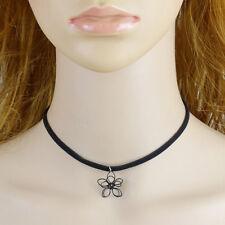 Women Hollow Flower Pendant Choker Statement Bib Necklace Retro hot