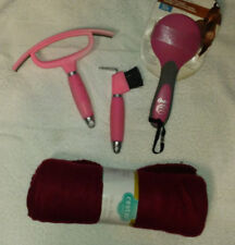 SET OF SWEAT SCRAPER , HOOF PICK AND OSTER BRUSH FOR HORSES PLUS S BLANKET