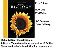 """""""NO CODE INCLUDED"""" Campbell Biology ,Global Edition. 3-4 business days Delivery"""