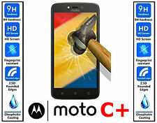 Genuine 100% TEMPERED GLASS HD Screen Protector Cover For Motorola Moto C PLUS +