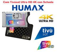 CAM TIVUSAT HUMAX 4K ULTRA HD MODULO SMARTCAM CERTIFICATA CI+EPC CON TESSERA