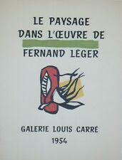 """""""LE PAYSAGE DANS L'OEUVRE DE FERNAND LEGER"""" Affiche originale entoilée Litho1954"""