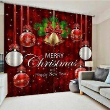 Merry Christmas Window Curtain Decorative Windows Curtains Drapes Festival Decor