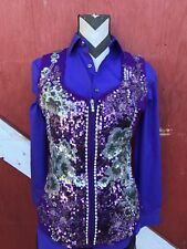 MEDIUM  Rail show vest, Rodeo queen, Western pleasure vest