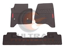2014-2018 GMC Sierra Genuine GM Front & Rear All Weather Floor Mats Cocoa