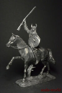 Tin soldiers figures Indian on horseback 54mm