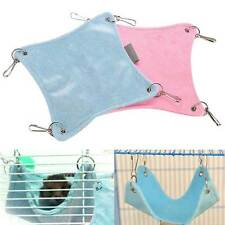 Plush Warm Hammock Hanging  Bed Cave Hamster Rat Bed Animal Cat Cage house JP