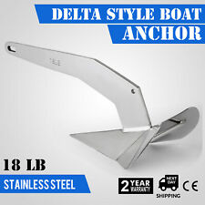 18 LB 8 Kg Delta Style Boat Anchor Boats From 25-40 Ft* Diamond Stainless Steel