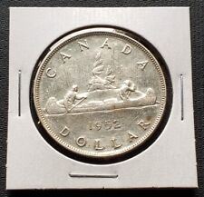 1952 NWL Canada Silver $1 Dollar Coin - No Water Lines Variety