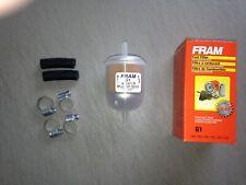 """NEW DESIGN"" Fram G1 1/4"" Plastic Inline Gas/Fuel Filter fits 33031 3031 GF1"