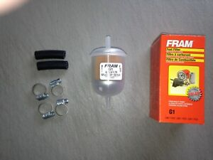 """NEW DESIGN"" Fram G1 1/4"" Plastic Inline Gas/Fuel Filter fits 33031 3031 GF68PL"