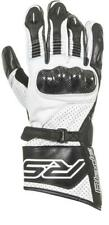 RST BLADE II CE MENS MOTORCYCLE GLOVE WHITE SMALL