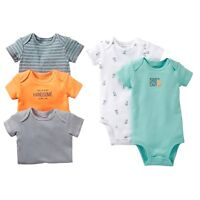 CARTER'S 5PK MOMMY'S LITTLE GUY FOX BOY BODYSUITS SET 3M 9M COTTON CLOTHES