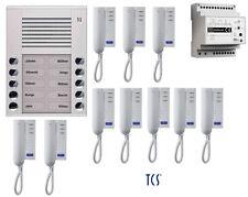 TCS Türsprechanlage Set 10 Wohneinheiten 2-Draht Sprechanlage komplett digital