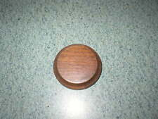 "Giuseppe Armani 1 7/8"" Round Dark Wood Base Only G Armani Made In Italy"
