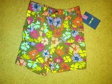 NWT VERY CUTE TODDLER GIRLS FLOWERED PRINT SHORTS SIZE 3T BY CHEROKEE