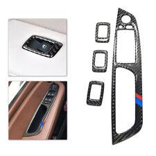 For BMW X5 E70 X6 E71 Carbon Fiber Door Window Panel Button Frame Cover Trim