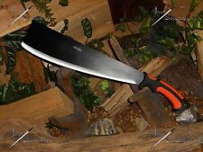 Survivor/Cleaver/Machete/Bowie/Full tang/3CR13 steel/Combat/Survival/Rubber grip