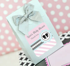 24 Gender Reveal Personalized Candy Boxes Bags Baby Shower Favors