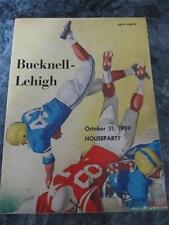 BUCKNELL LEHIGH PENNSYLVANIA FOOTBALL PROGRAM 1959 + ADS COKE CHESTERFIELD
