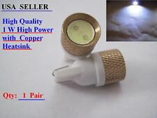 1 pair T10 168 194 W5W High Power 1W led Pure Copper