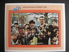 GUYANA Sc 3027 50th Anniversary of UNICEF 1996 nice souvenir sheet!