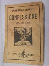 CONFESSIONE Romanzo russo Massimo Gorki Mario Salviati Bietti 1936 libro romanzo