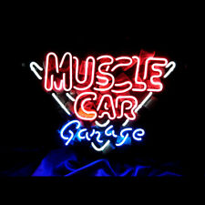Muscle Car Neon Sign Light Store Display Bar Sign 16''x14'&# 039; Me362