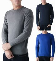 DUCK AND COVER Mens Premium Knit Cotton Stretch Jumper Crew Neck Sweater Top