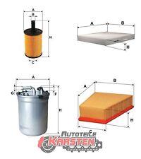 Set L: Ölfilter+Innenraumfilter+Kraftstofffilter+Luftfilter Filterset SEAT SKODA