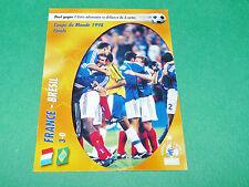 FRANCE BRESIL 98 CHAMPION ! 1998 EQUIPE FRANCE BLEUS PANINI FOOTBALL CARD 2002