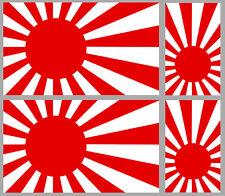 4 X JAPAN JAPON DRAPEAU FLAG DRIFT RACING MOTO BIKER AUTOCOLLANTS STICKER JA053