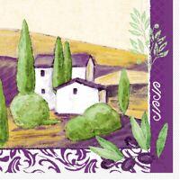 20 Serviette Provence aus Tissue 33 x 33 cm - Tischdeko Urlaub Flair