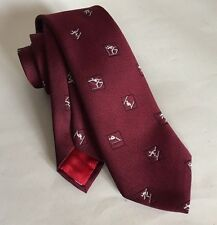 Vintage Necktie 1967 Winter Olympics Canadian Olympic Association. Red. Mint Con