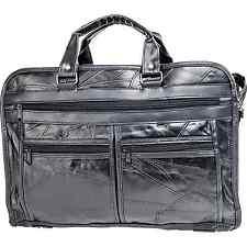 Goson Genuine Patchwork Leather Business Bag Laptop Briefcase Office Travel Men