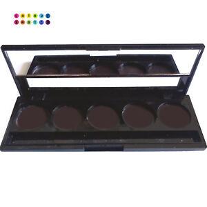 ColourSwatch empty magnetic palette - slimline eyeshadow palette - 5 pans x 26mm